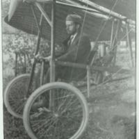 Billy Robinson in early biplane