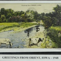 Greetings from Orient, Iowa in 1948