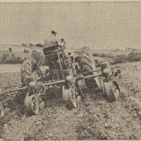 Four-row lister, planting corn on a terrace