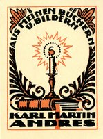 Karl Martin Andres Bookplate
