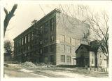 Trowbridge Hall with scaffolding, The University of Iowa, 1917