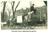 Float in Mecca Day parade, The University of Iowa, 1920