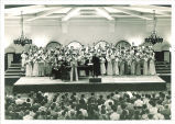 Soloist and choir performing at the Iowa Memorial Union, The University of Iowa, 1930s