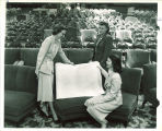 Women discussing building plans in the Iowa Memorial Union, the University of Iowa, 1950s?