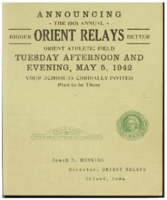 Orient, Iowa Relays - 1942