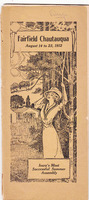 1912 Fairfield Chautauqua program