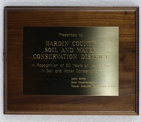 Hardin County Soil and Water Conservation District Fifty Years of Leadership