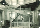 Reconstruction of the spiral staircase in Old Capitol, The University of Iowa, 1923