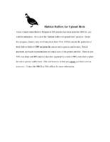 Habitat Buffers For Upland Birds