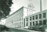 North side of Engineering Building facing Washington Street, the University of Iowa, 1940s?