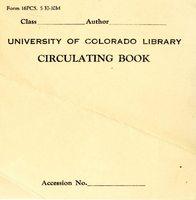 University of Colorado Library: Circulating Book Bookplate