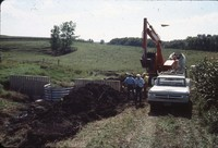 Duncan farm installs an aluminum toewall.
