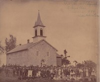 Ceres Church (St. Peter's German Evangelical Lutheran) at Ceres, Iowa -1899
