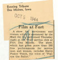 Film at fort