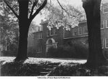Zeta Tau Alpha sorority house, shade trees, Iowa City, Iowa, between 1920s and 1950s