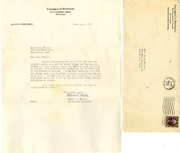 Frank K Walter letter to Helen Patricia (Patsy) Wilson exchanging bookplates.
