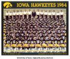 Football team, The University of Iowa, 1984