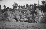 Purple limestone of red beds, Chatauqua grounds, Hot Springs, S.D., late 1890s or early 1900s