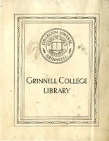 Grinnell College Library Bookplate