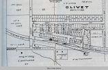 Olivet, IA, 1913 map; Scott Township; Mahaska County; Iowa
