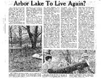 Arbor Lake To Live Again