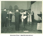 Chorus at Centennial Dinner, Iowa Memorial Union, University of Iowa, February 25, 1947