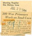 300 war prisoners work on seed corn