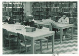 Students studying at Main Library, the University of Iowa, 1951