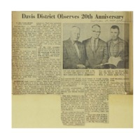 1964 - Davis District Observes 20th Anniversary