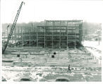 Main Library under construction, the University of Iowa, 1940s