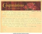 Congratulations telegram, March 4, 1966