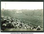 Iowa-Minnesota homecoming football game at Iowa Field, The University of Iowa, October 27, 1928