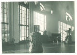 Interior exhibition hall in the Art Building, The University of Iowa, November 1936