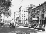 Business district, Iowa City, Iowa, June 6, 1940