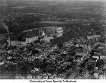 Business district, Pentacrest, Iowa City, Iowa, 1923