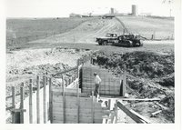 Spillway construction on Stillmunkes farm, 1967