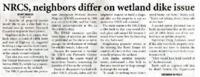 NRCS, Neighbors Differ on Wetland Dike Issue