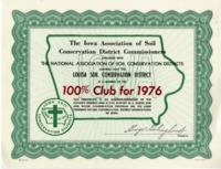 Iowa Soil Conservation District Certificate