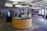 Information Desk before removal in library renovation, 1999