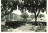Parking lot at Westlawn, The University of Iowa, June 1932