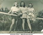 Tennis players, The University of Iowa, 1950s