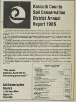 1985 Kossuth County Soil and Water Conservation District Annual Report