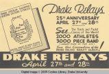 Drake Relays Promotional Flyer, 1934