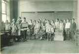 Classroom spinning demonstration, The University of Iowa elementary school, 1920s