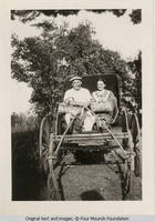 Frank and Miss Gibbs in buggy