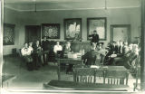 Mock trial in Gilmore Hall, the University of Iowa, April 1, 1922