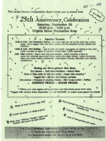 25th Anniversary Celebration Flyer