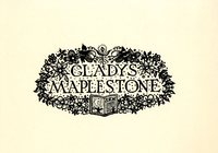Gladys Maplestone Bookplate