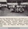 Rose Hill High School Baseball Team, 1927; Mahaska County; Iowa