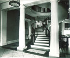 Spiral staircase in the Old Capitol, The University of Iowa, 1930s